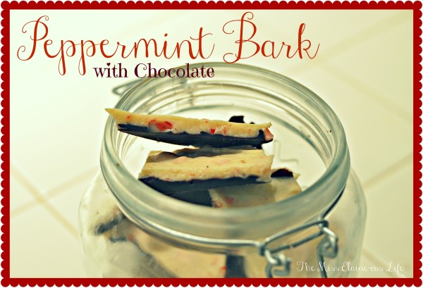 Peppermint Bark with Chocolate, The Miss Elaine-ous Life