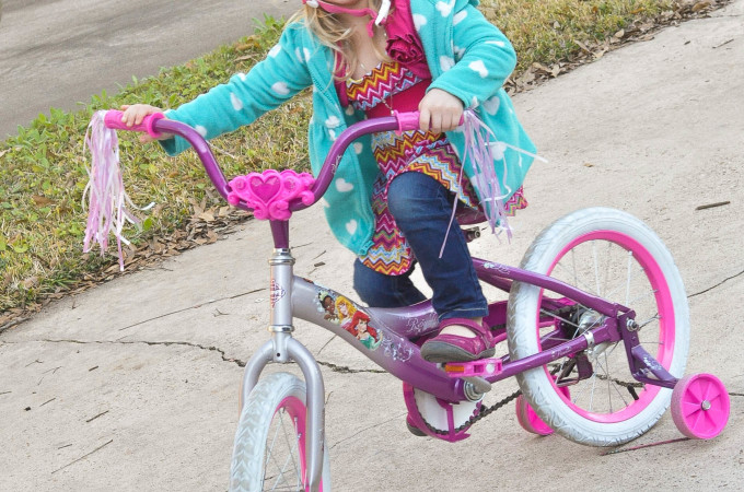 Princess on a Princess Bike
